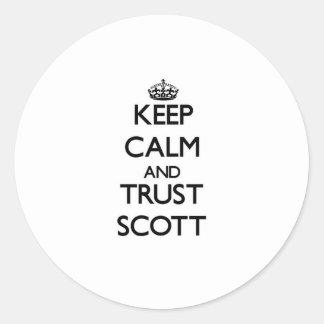 Mantenha a calma e a CONFIANÇA Scott Adesivos