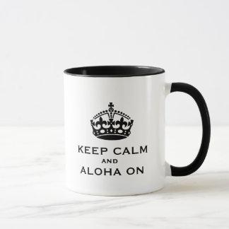Mantenha a calma e Aloha na caneca