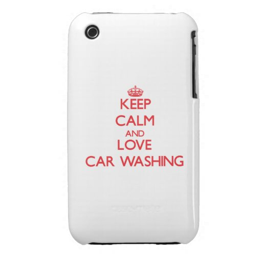 Mantenha a calma e ame a lavagem do carro capas iPhone 3 Case-Mate