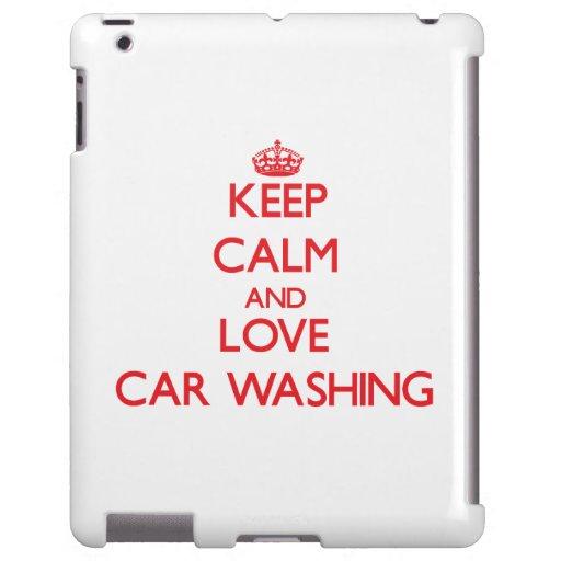Mantenha a calma e ame a lavagem do carro
