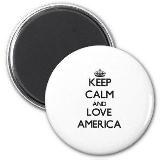 Mantenha a calma e ame América
