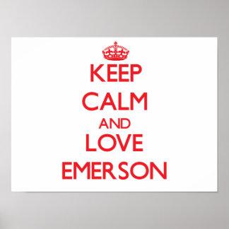 Mantenha a calma e ame Emerson Poster