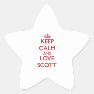 Mantenha a calma e ame Scott Adesivos Em Forma De Estrelas