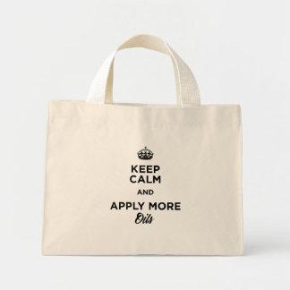 Mantenha a calma e aplique mais sacola dos óleos! bolsa tote mini