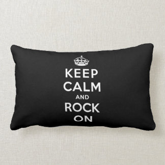 Mantenha a calma e balance-a sobre almofada lombar
