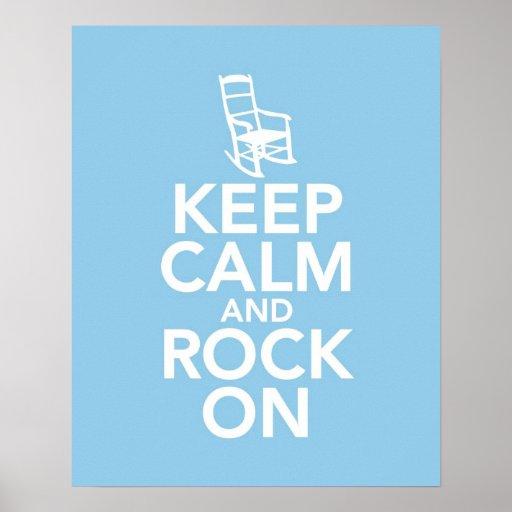 Mantenha a calma e balance-a sobre posters