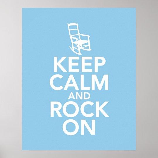 Mantenha a calma e balance-a sobre pôster