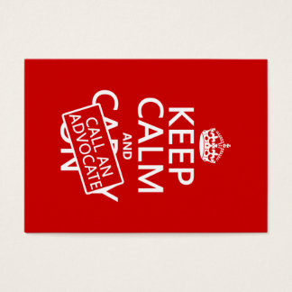 Mantenha a calma e chame um advogado (em alguma cartão de visita grande