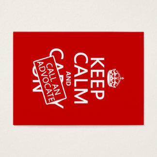 Mantenha a calma e chame um advogado (em alguma cartão de visitas