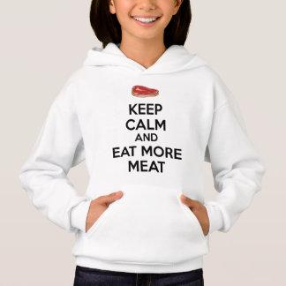 Mantenha a calma e coma mais carne camisetas