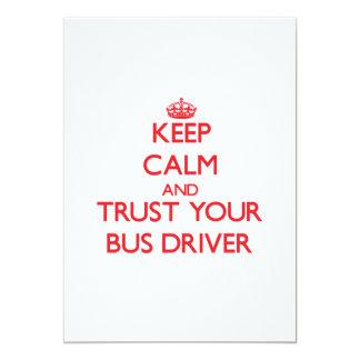 Mantenha a calma e confie seu condutor de convite 12.7 x 17.78cm
