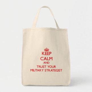 Mantenha a calma e confie sua estratega militar bolsas para compras