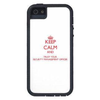 Mantenha a calma e confie sua gestão Offic da segu iPhone 5 Capas