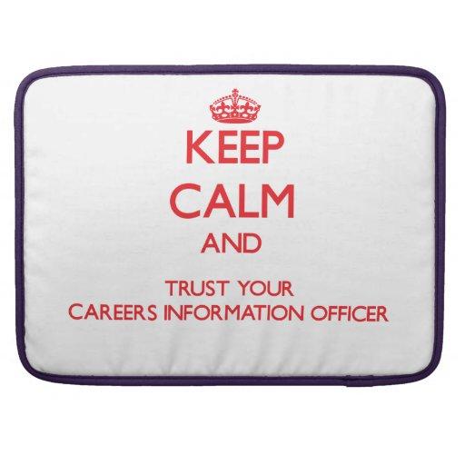 Mantenha a calma e confie sua informação Offic das Bolsa Para MacBook