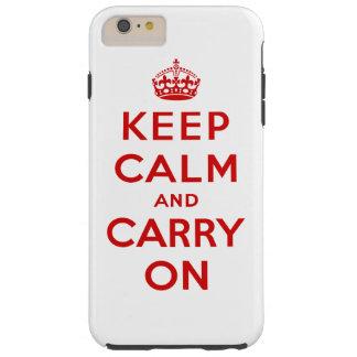 Mantenha a calma e continue capas iPhone 6 plus tough