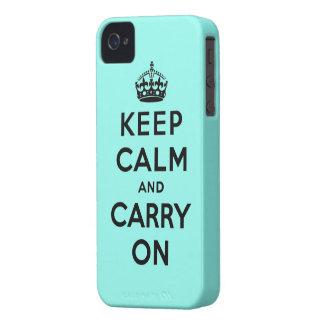 mantenha a calma e continue o original capa iPhone 4