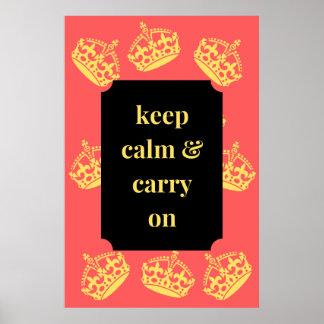 Mantenha a calma e continue pôster