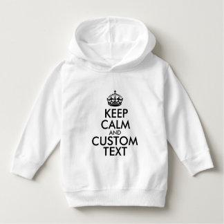 Mantenha a calma e criar seus próprios fazem para t-shirt