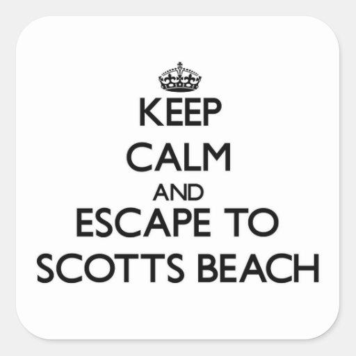 Mantenha a calma e escape à praia New York de Adesivos Quadrados