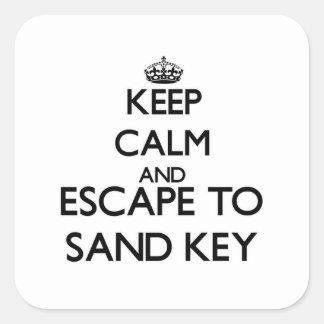 Mantenha a calma e escape para lixar Florida chave Adesivo Quadrado