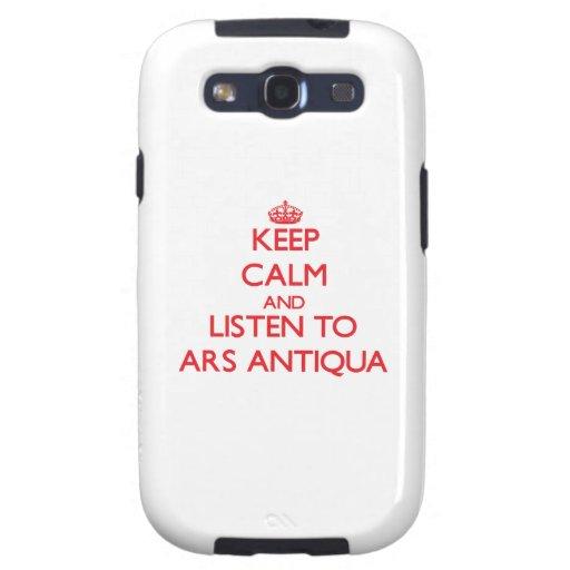 Mantenha a calma e escute o ARS ANTIQUA Samsung Galaxy S3 Capas