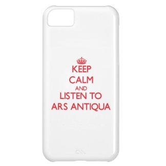 Mantenha a calma e escute o ARS ANTIQUA Capa Iphone 5C
