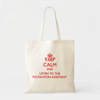 Mantenha a calma e escute o assistente da bolsa para compras