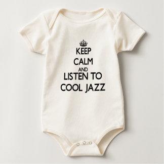 Mantenha a calma e escute o JAZZ LEGAL Body Para Bebê