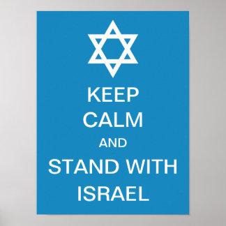 Mantenha a calma e esteja com Israel Pôster