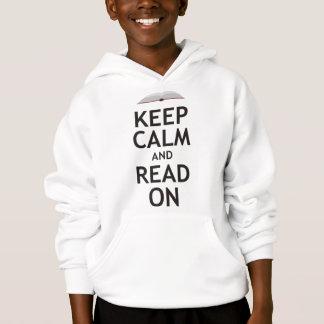 Mantenha a calma e leia-a sobre t-shirt