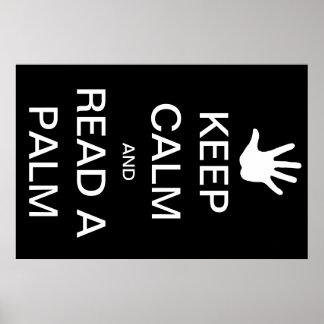 """""""Mantenha a calma e leia poster da minha palma"""""""