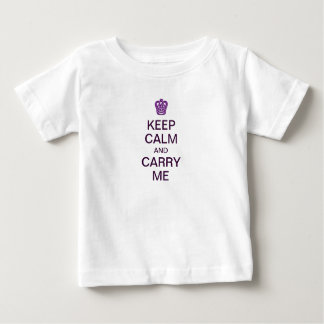 Mantenha a calma e leve-me t-shirt