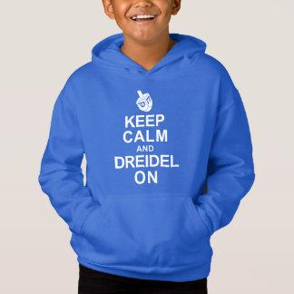 Mantenha a calma e o Dreidel sobre Camisetas