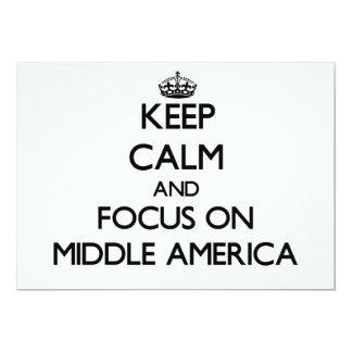 Mantenha a calma e o foco em América média Convites Personalizados