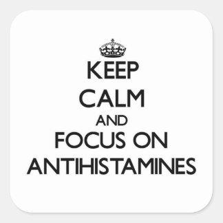 Mantenha a calma e o foco em antistamínicos