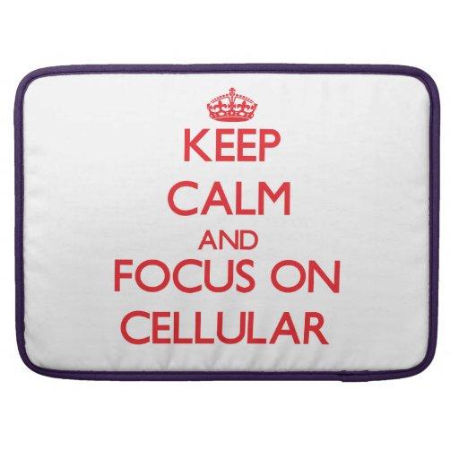 Mantenha a calma e o foco em celular bolsas MacBook pro