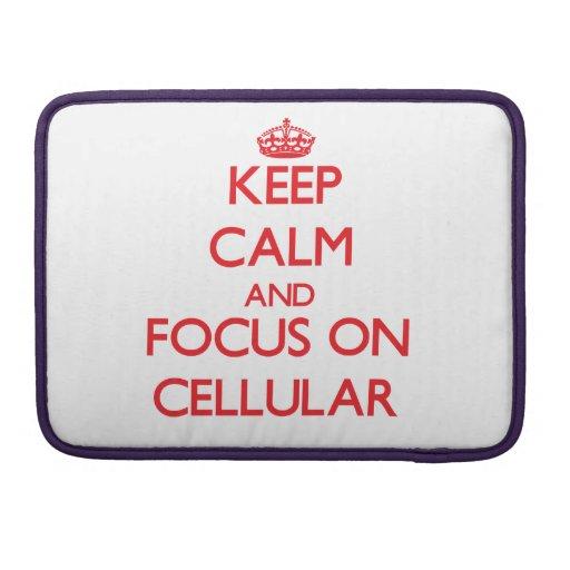 Mantenha a calma e o foco em celular bolsas para MacBook