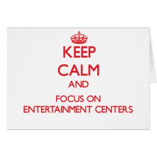 Mantenha a calma e o foco em CENTROS de Cartão Comemorativo