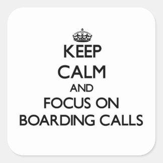 Mantenha a calma e o foco em chamadas do embarque