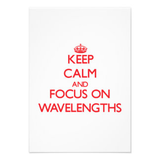 Mantenha a calma e o foco em comprimentos de onda convite