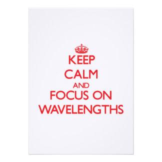 Mantenha a calma e o foco em comprimentos de onda convite personalizados