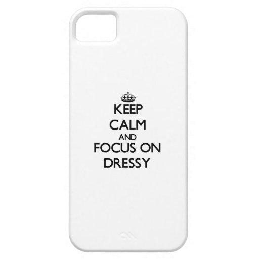Mantenha a calma e o foco em Dressy Capas De iPhone 5 Case-Mate