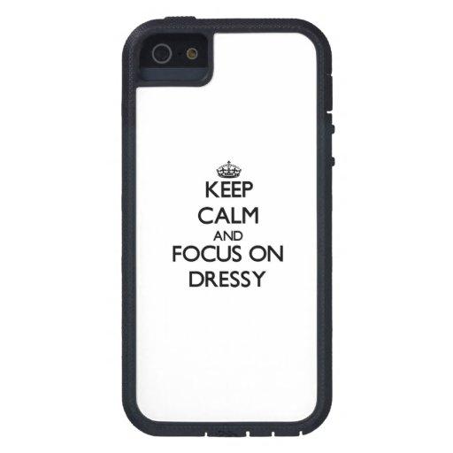 Mantenha a calma e o foco em Dressy Capa iPhone 5 Case-Mate
