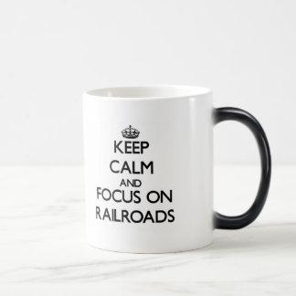Mantenha a calma e o foco em estradas de ferro