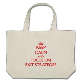 Mantenha a calma e o foco em ESTRATÉGIAS de SAÍDA Bolsa Para Compra