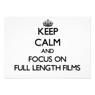 Mantenha a calma e o foco em filmes completos do c convites personalizado