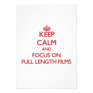 Mantenha a calma e o foco em filmes completos do c convite