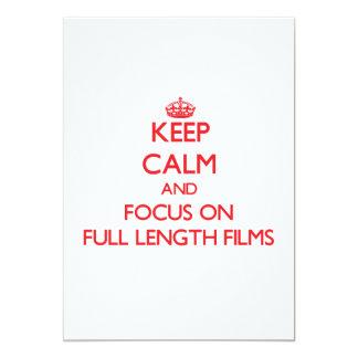 Mantenha a calma e o foco em filmes completos do convite