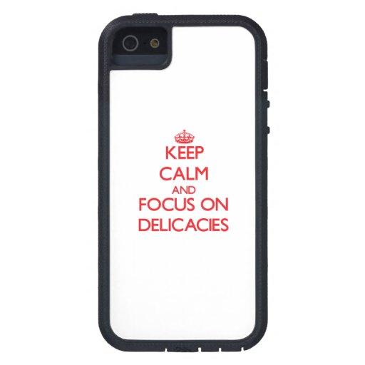 Mantenha a calma e o foco em guloseimas capas iPhone 5 Case-Mate