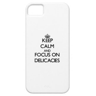 Mantenha a calma e o foco em guloseimas capa iPhone 5 Case-Mate